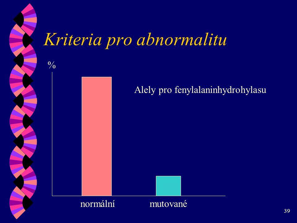 Kriteria pro abnormalitu