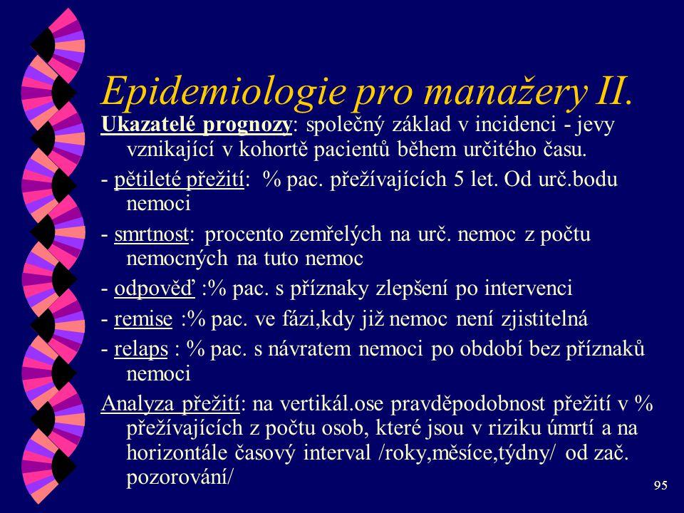 Epidemiologie pro manažery II.