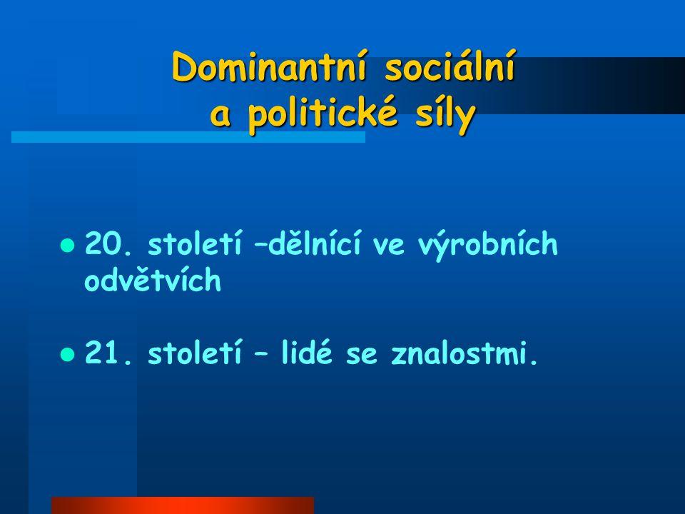 Dominantní sociální a politické síly