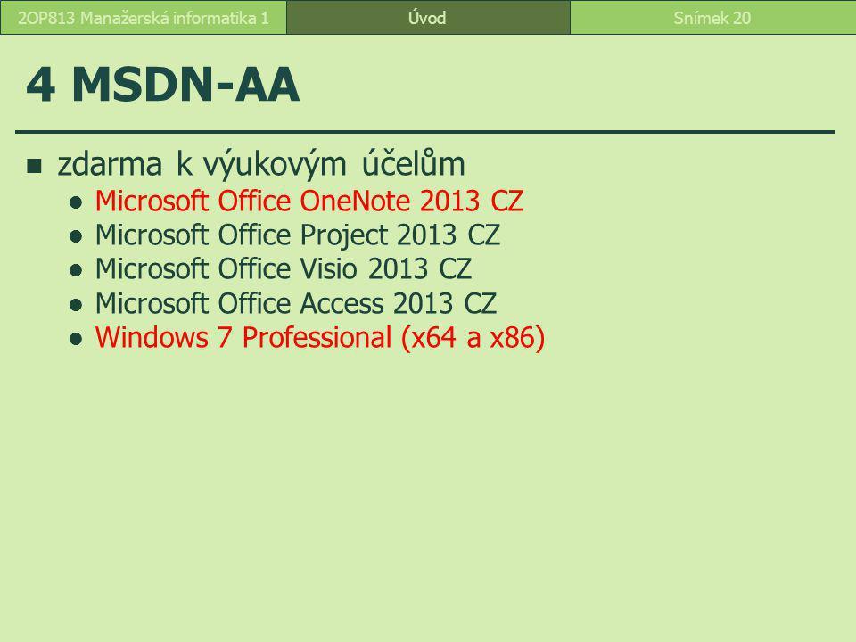 2OP813 Manažerská informatika 1