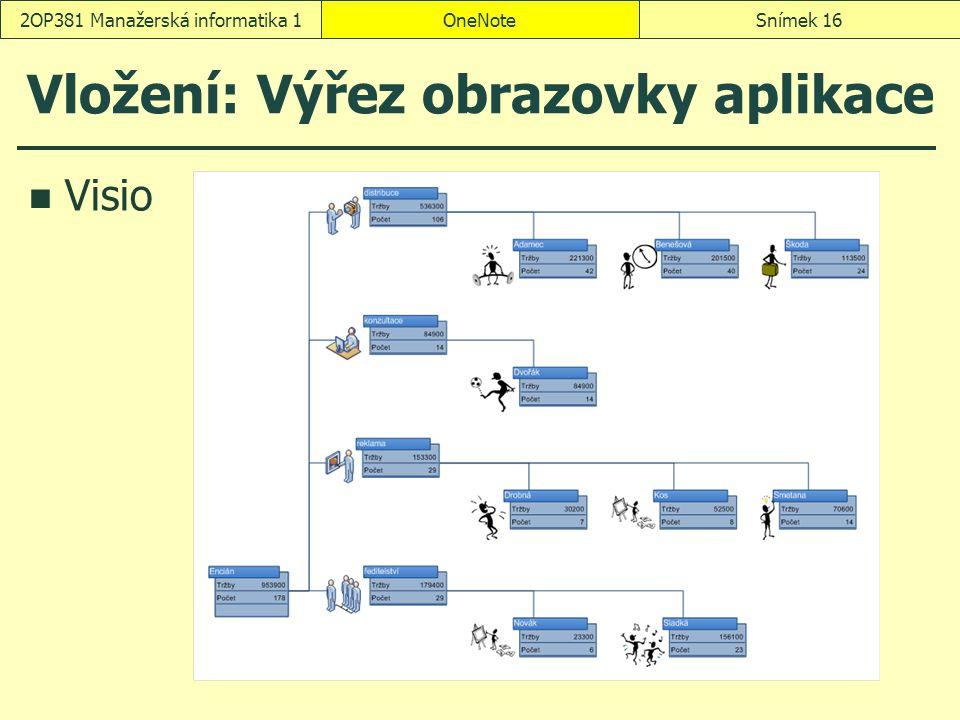 Vložení: Výřez obrazovky aplikace