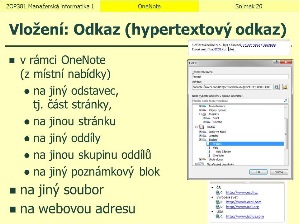 Vložení: Odkaz (hypertextový odkaz)
