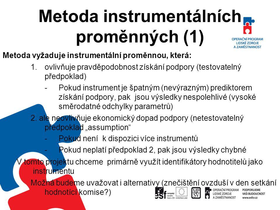 Metoda instrumentálních proměnných (1)