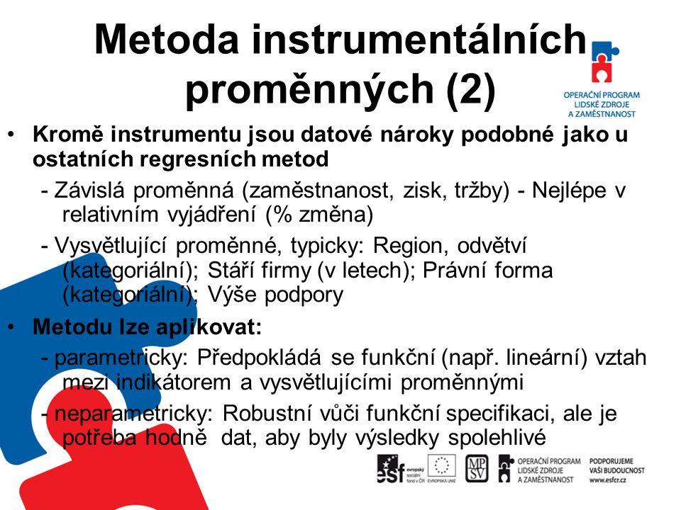 Metoda instrumentálních proměnných (2)