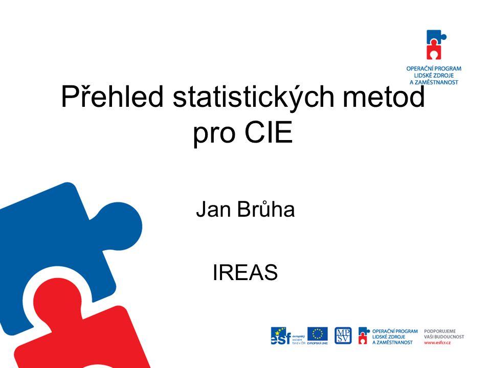 Přehled statistických metod pro CIE