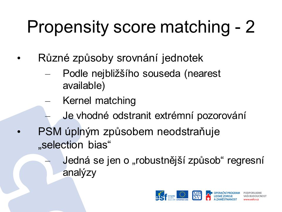 Propensity score matching - 2