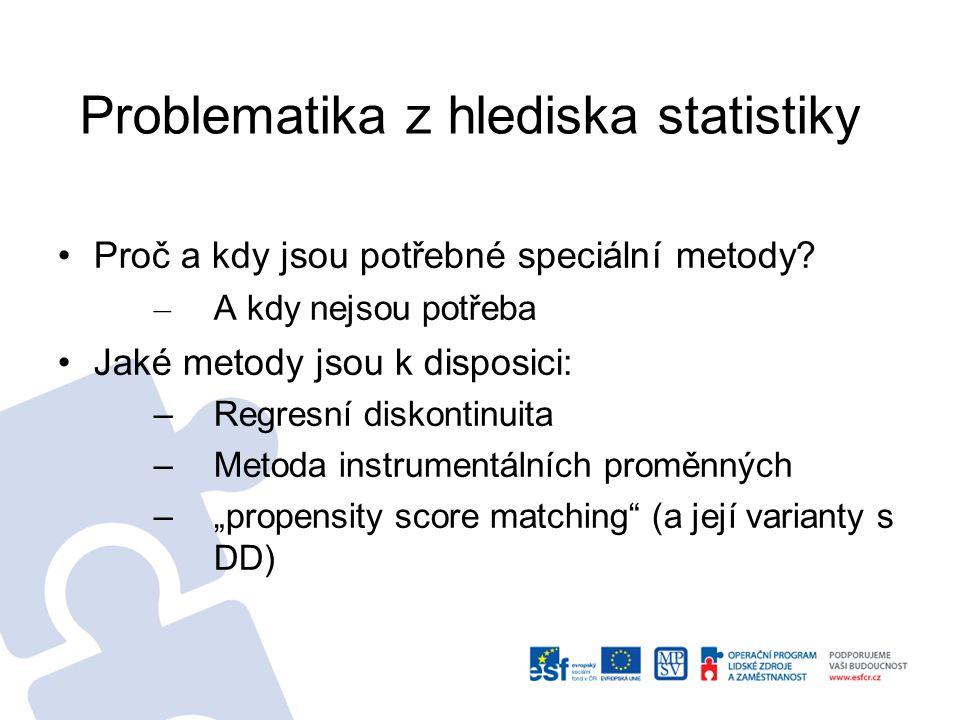 Problematika z hlediska statistiky