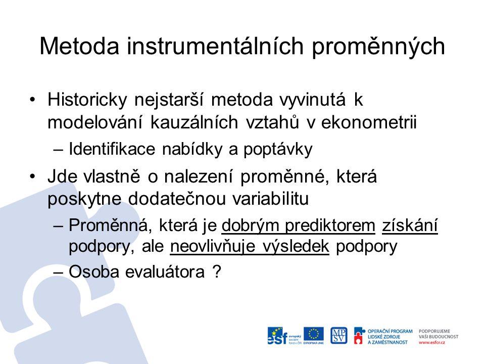 Metoda instrumentálních proměnných