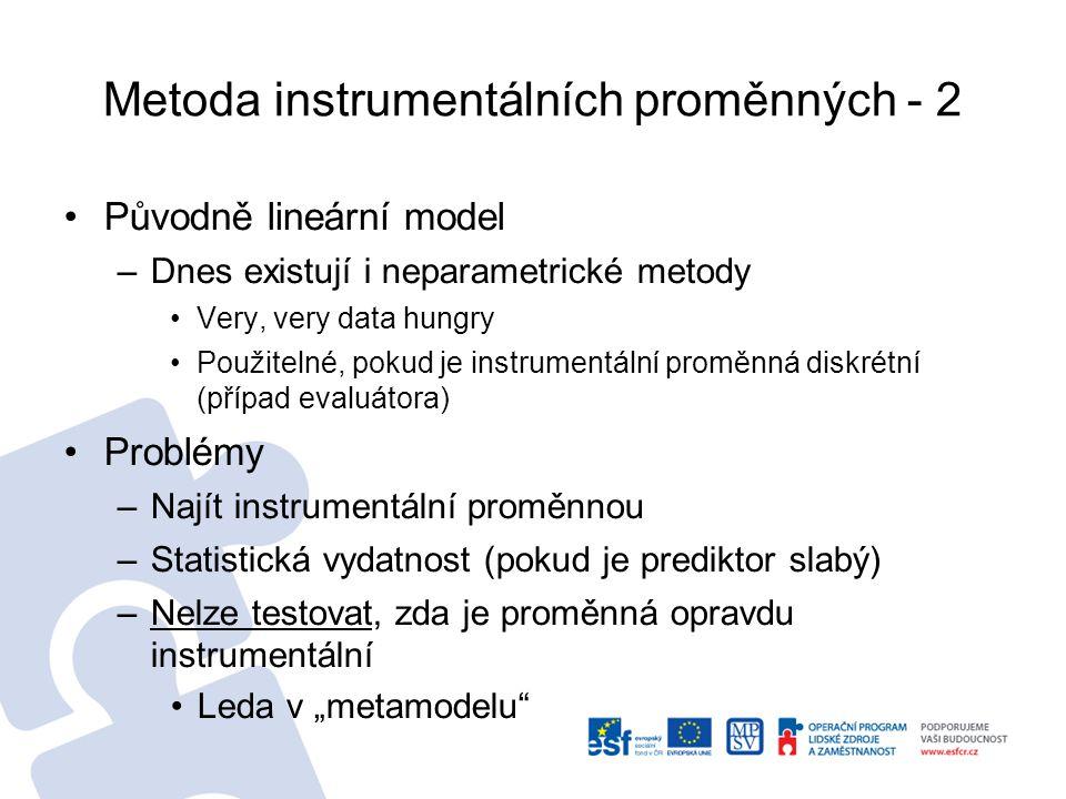 Metoda instrumentálních proměnných - 2