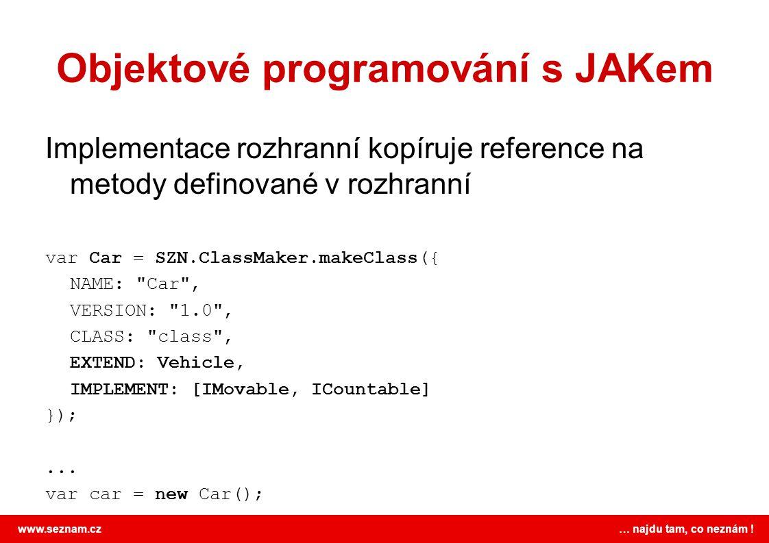 Objektové programování s JAKem