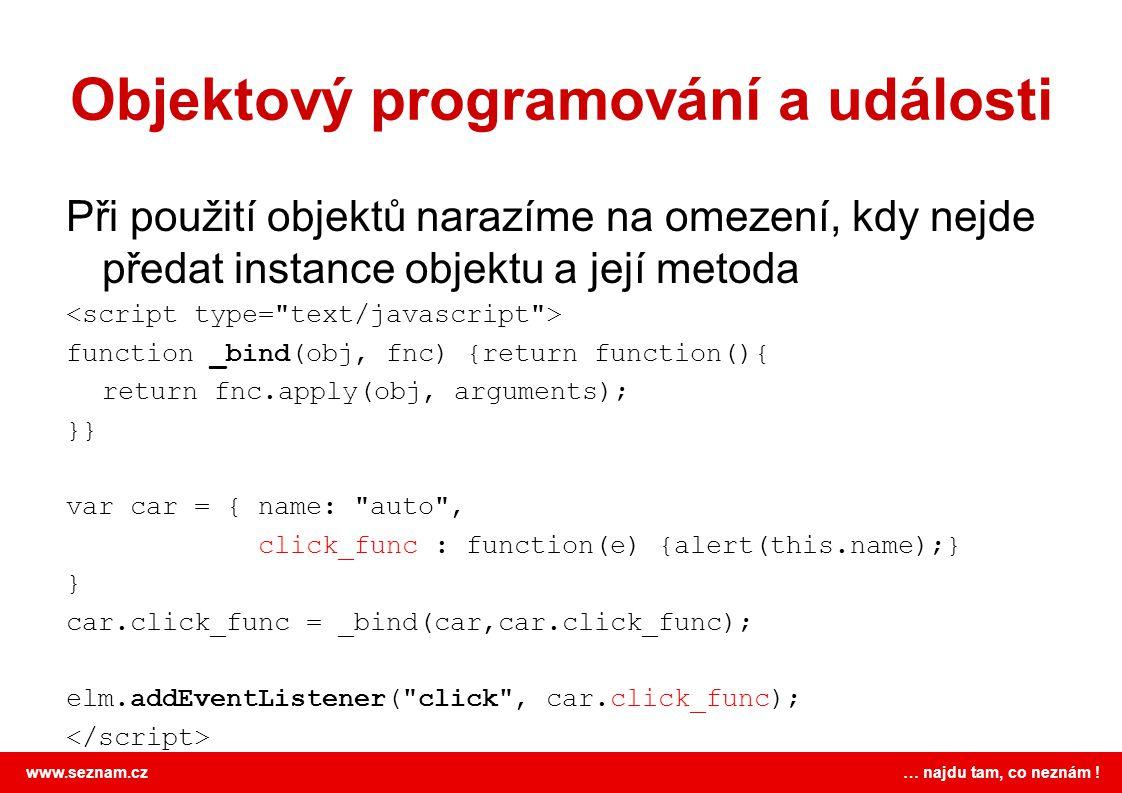 Objektový programování a události