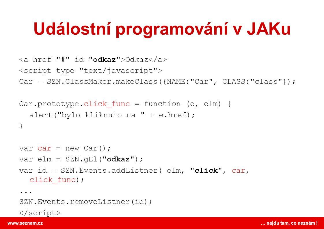 Událostní programování v JAKu