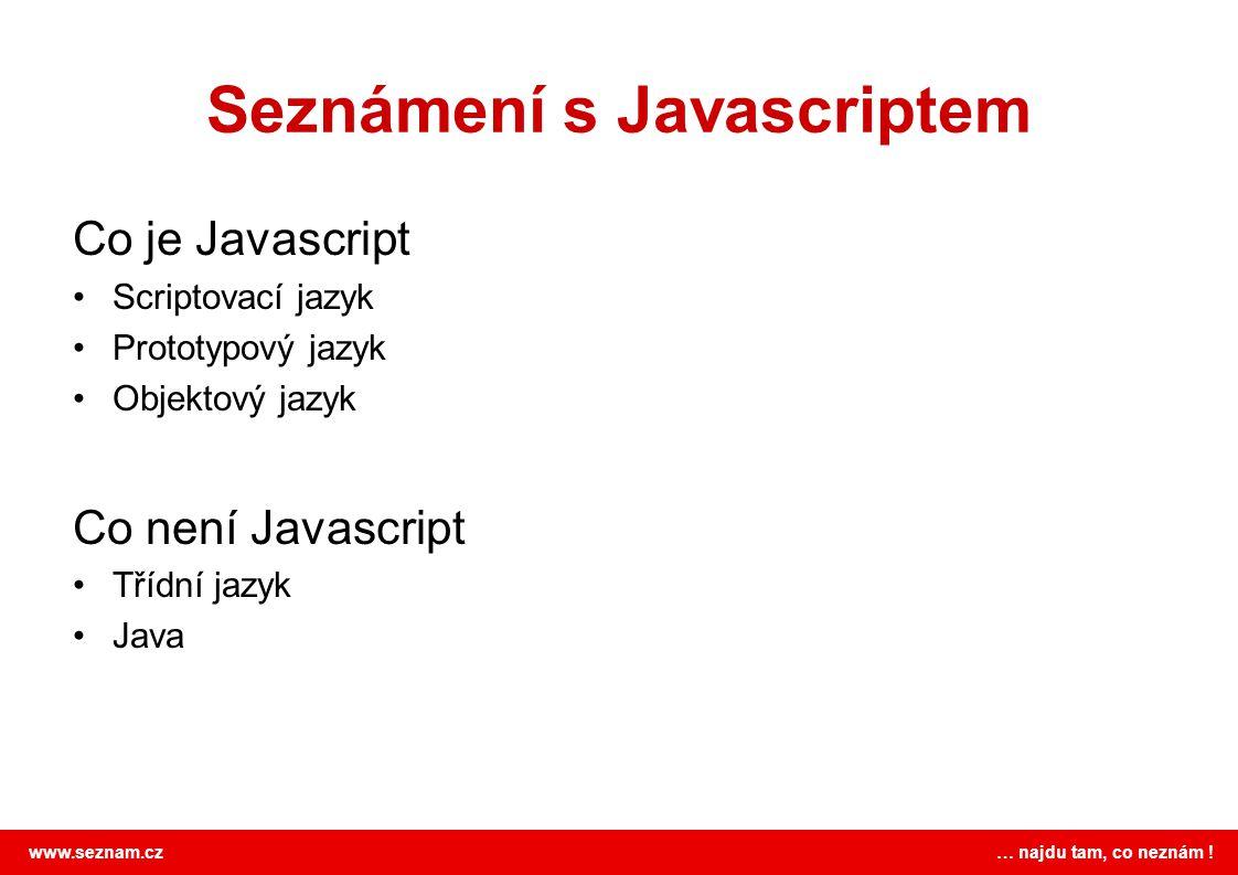 Seznámení s Javascriptem