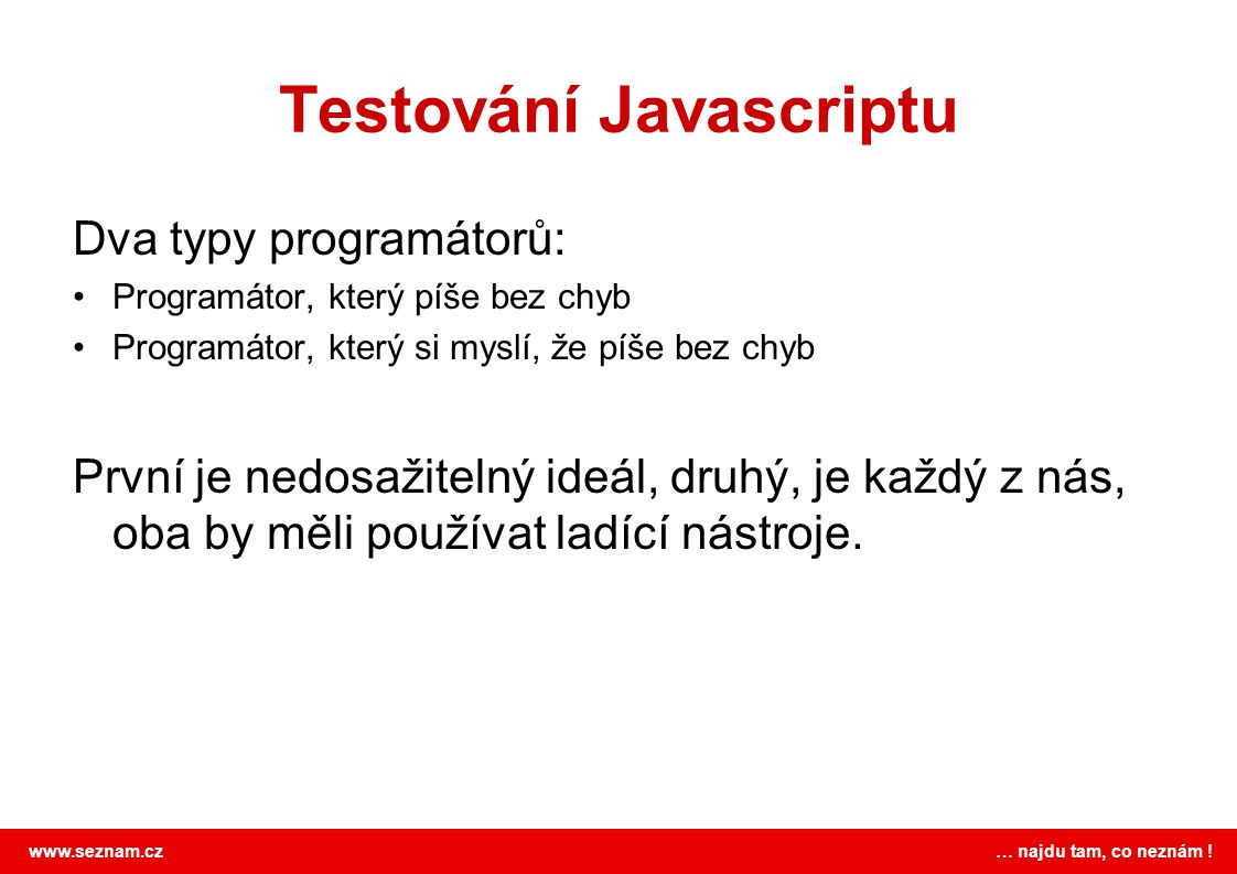 Testování Javascriptu