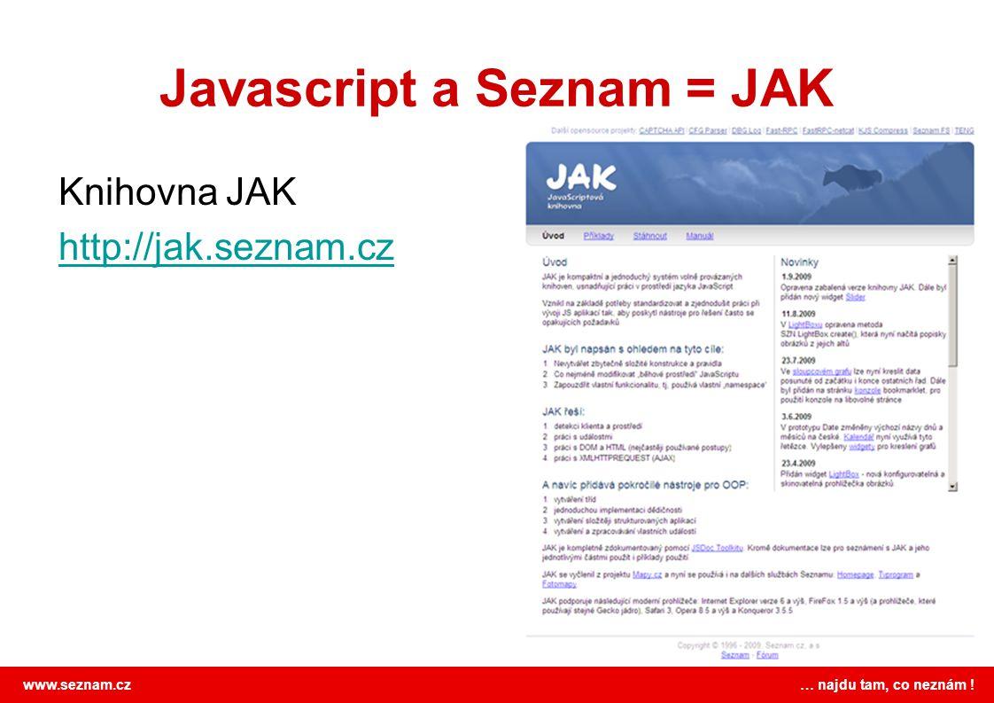 Javascript a Seznam = JAK