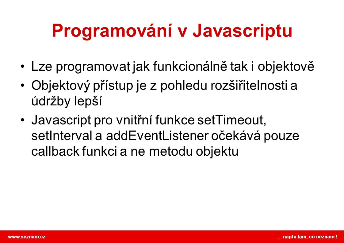 Programování v Javascriptu
