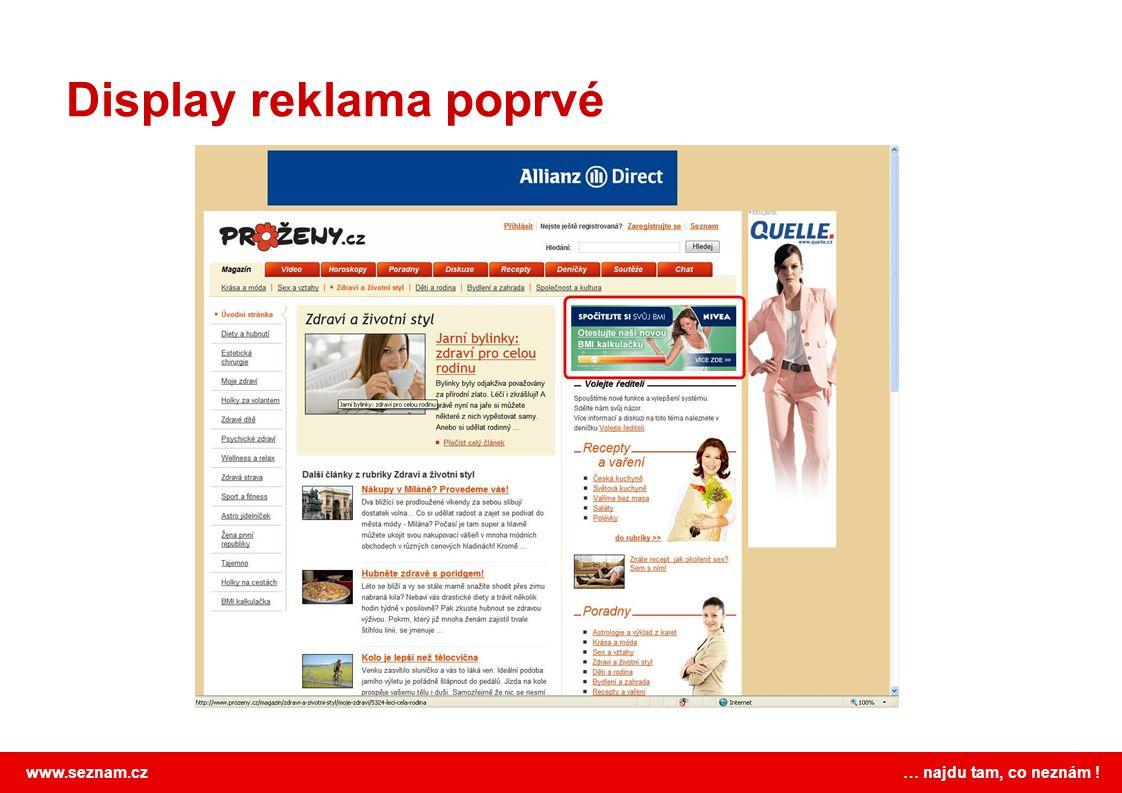 Display reklama poprvé