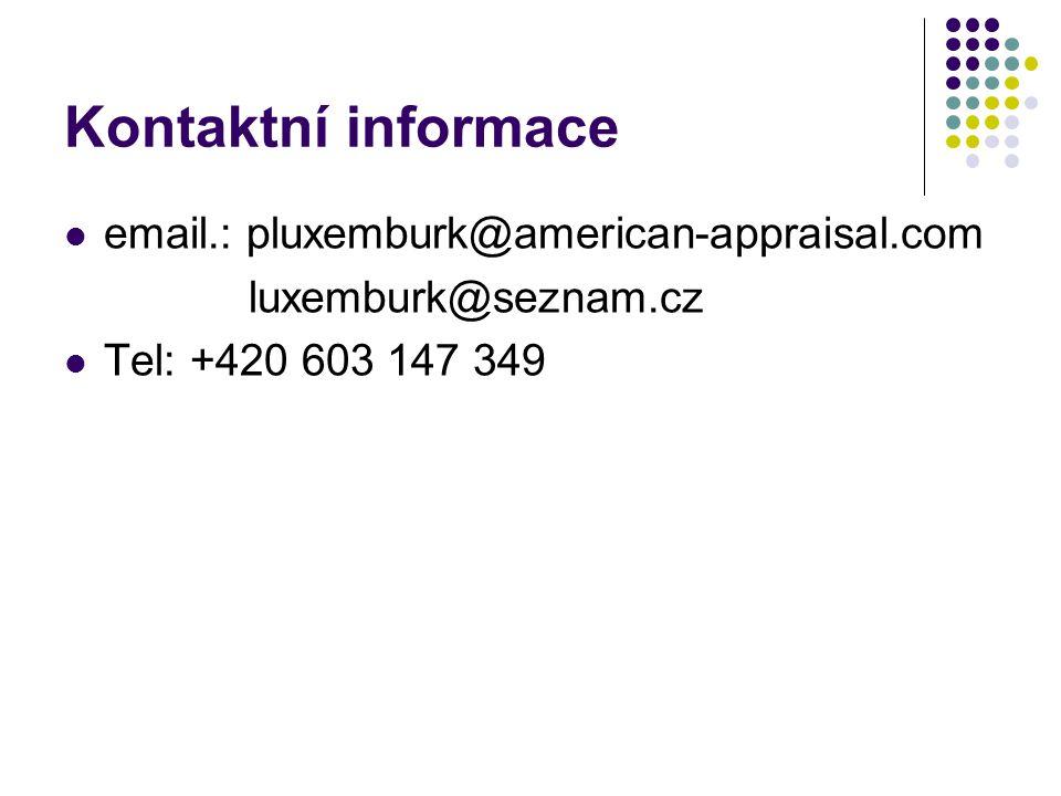 Kontaktní informace email.: pluxemburk@american-appraisal.com