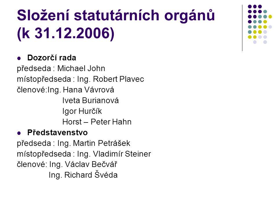 Složení statutárních orgánů (k 31.12.2006)