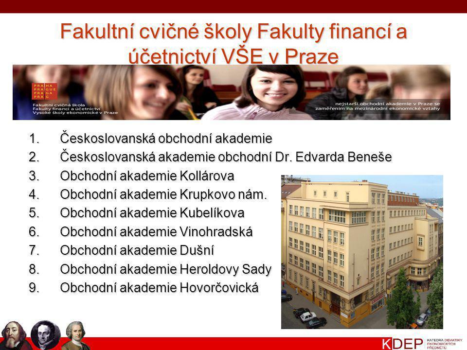 Fakultní cvičné školy Fakulty financí a účetnictví VŠE v Praze