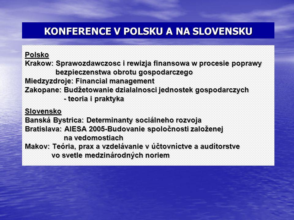 KONFERENCE V POLSKU A NA SLOVENSKU
