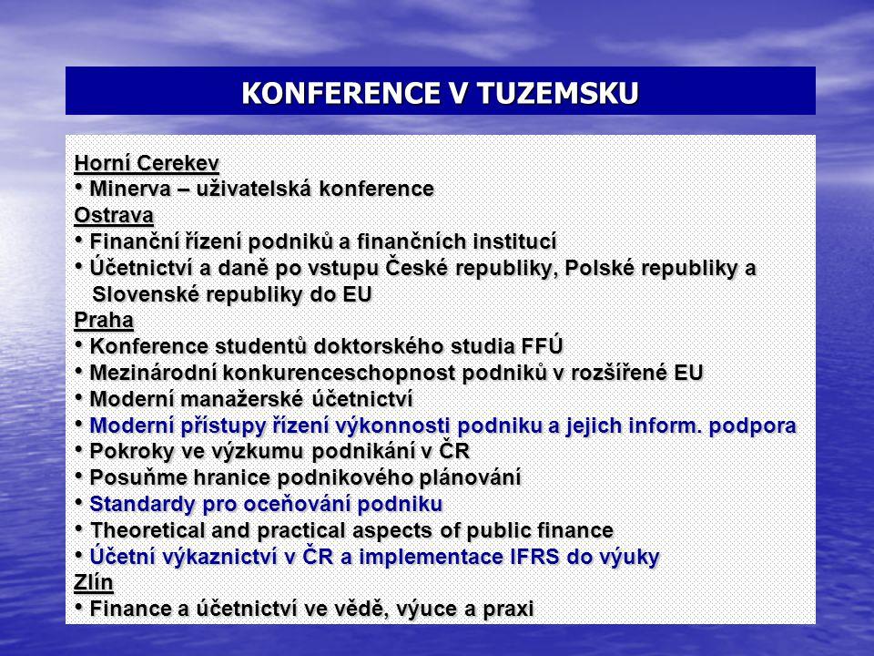 KONFERENCE V TUZEMSKU Horní Cerekev Minerva – uživatelská konference