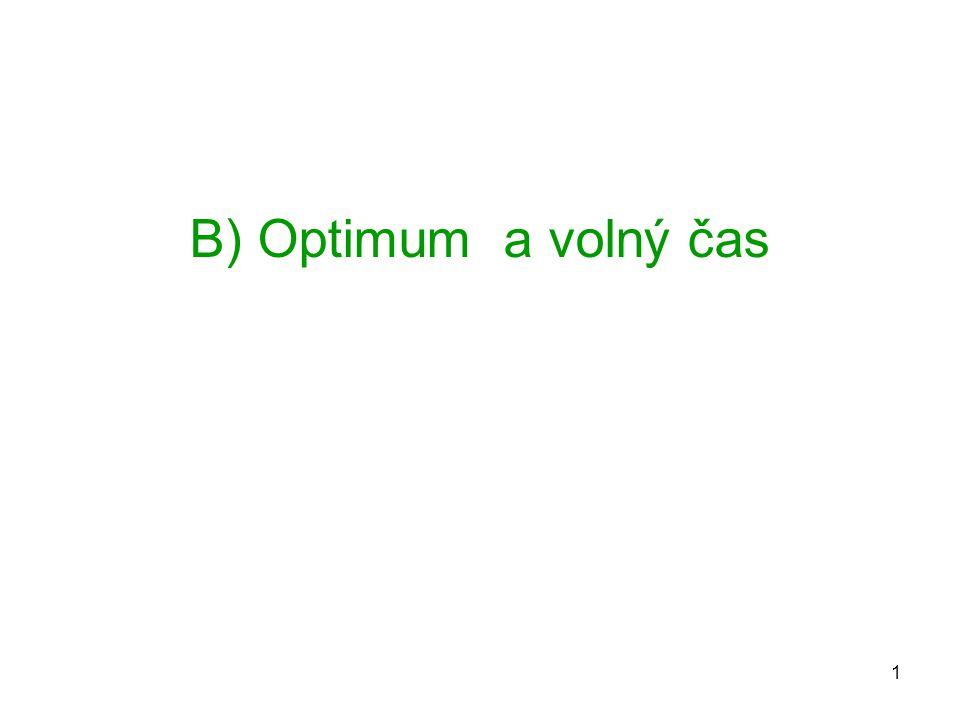 B) Optimum a volný čas