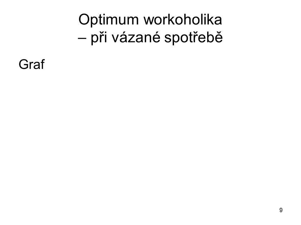 Optimum workoholika – při vázané spotřebě