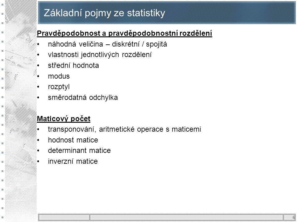 Základní pojmy ze statistiky