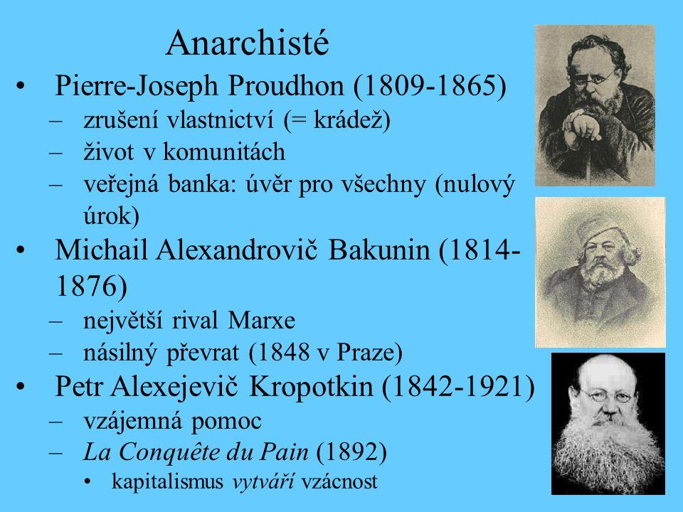 Anarchisté Pierre-Joseph Proudhon (1809-1865)