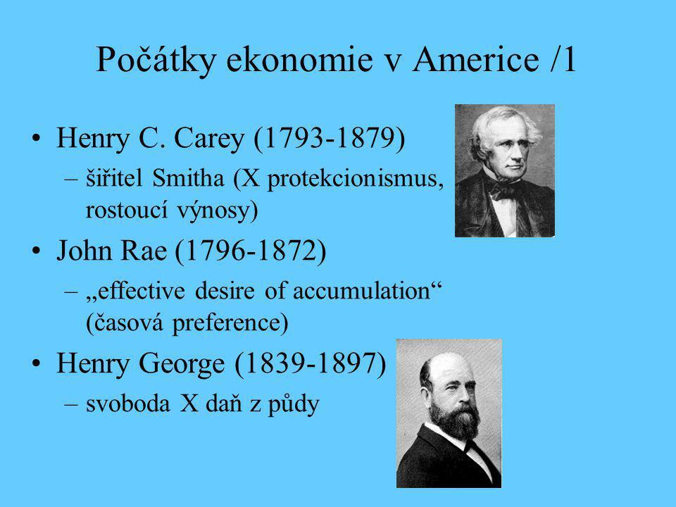 Počátky ekonomie v Americe /1