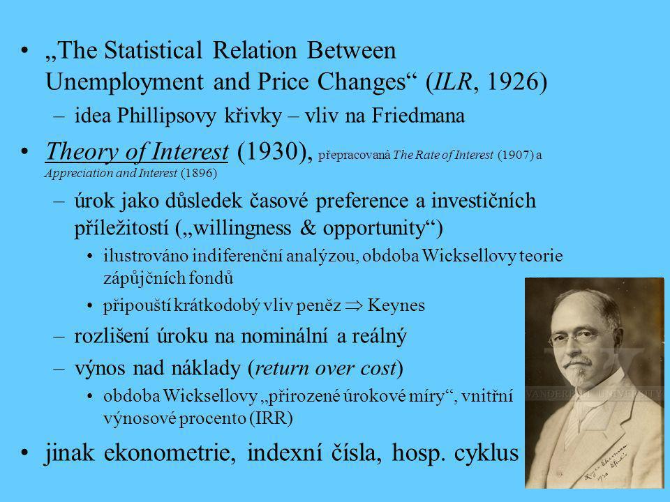 jinak ekonometrie, indexní čísla, hosp. cyklus
