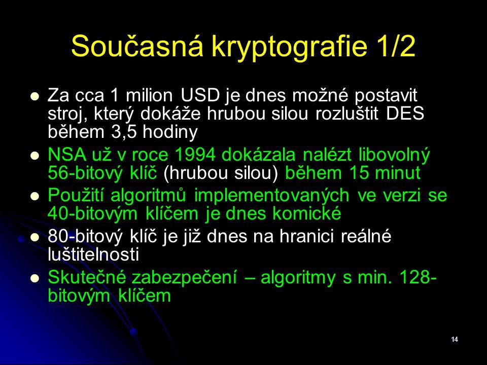 Současná kryptografie 1/2