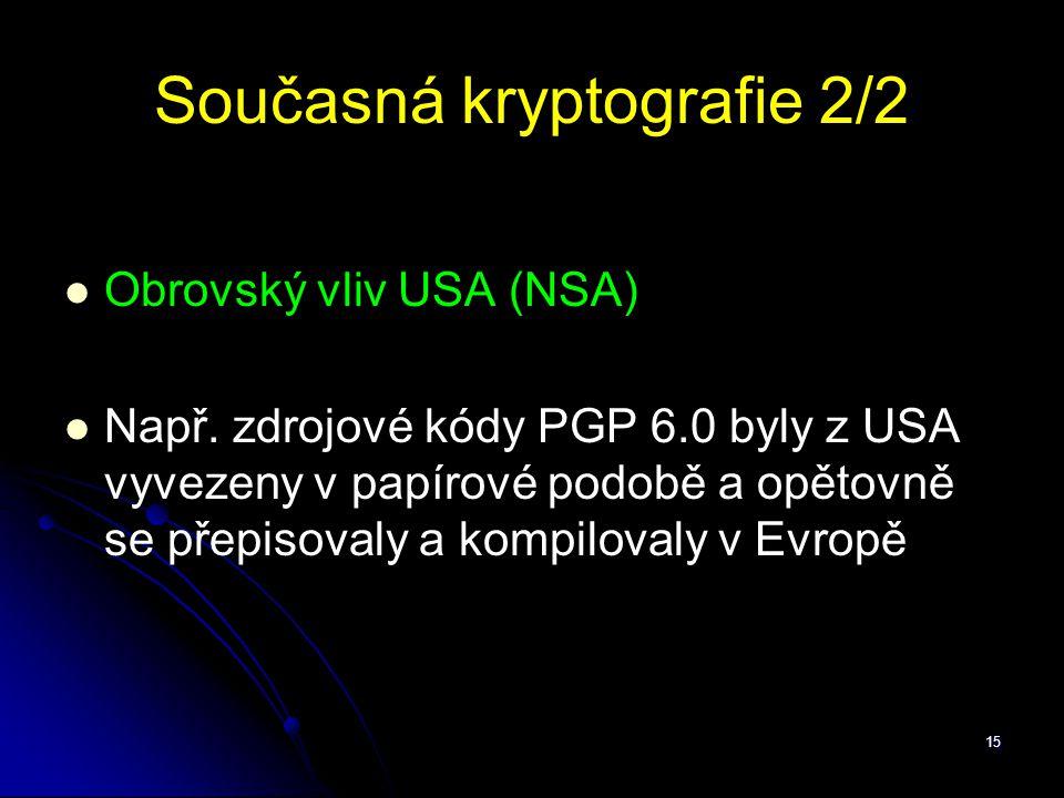 Současná kryptografie 2/2