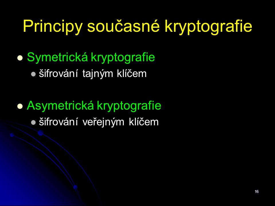 Principy současné kryptografie