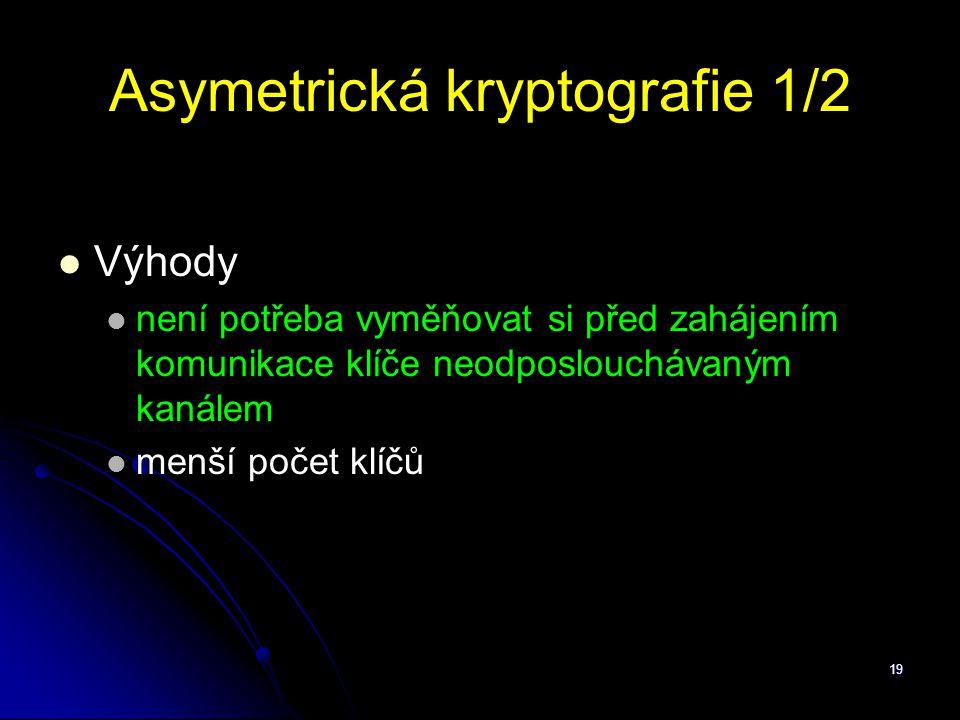Asymetrická kryptografie 1/2