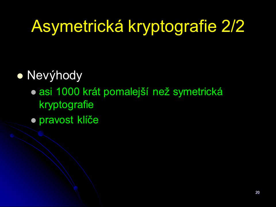 Asymetrická kryptografie 2/2