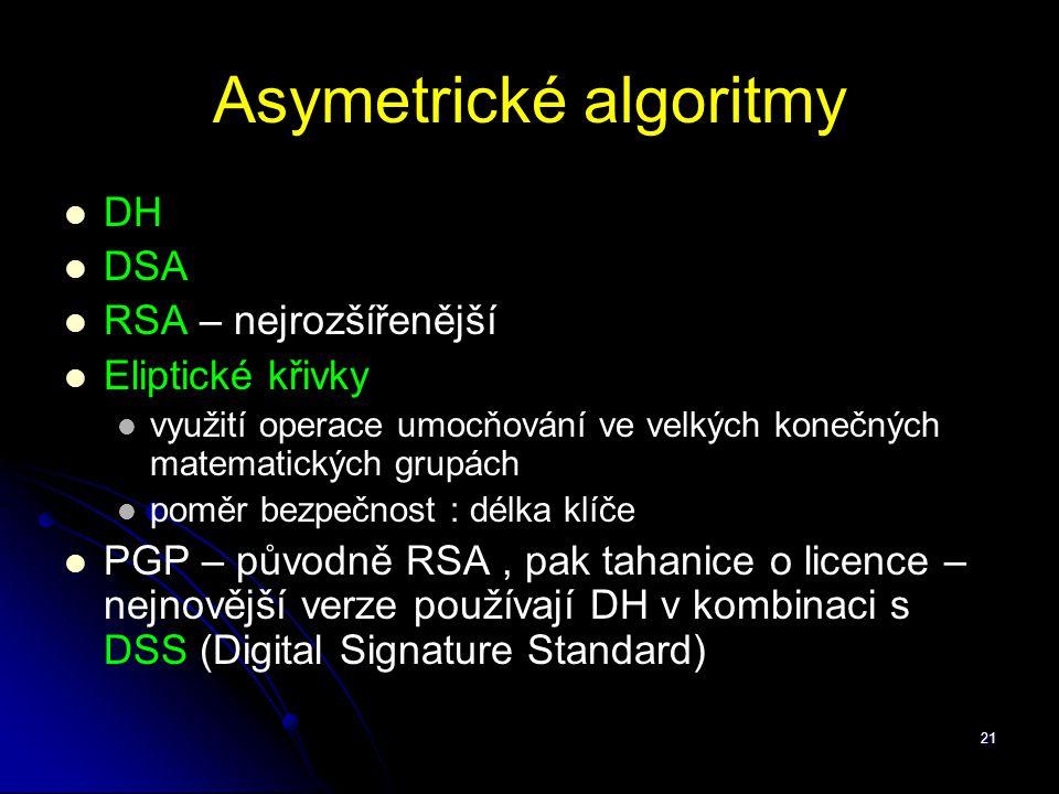 Asymetrické algoritmy