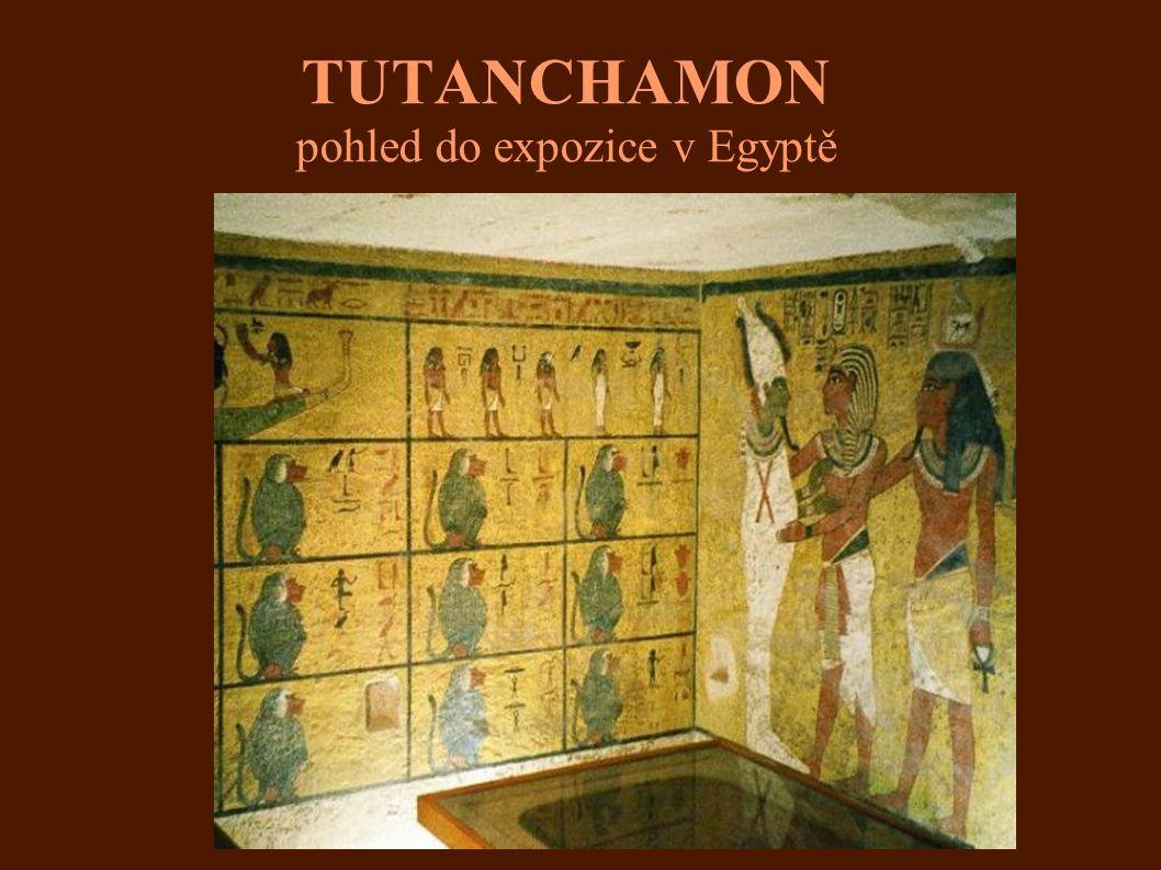 TUTANCHAMON pohled do expozice v Egyptě