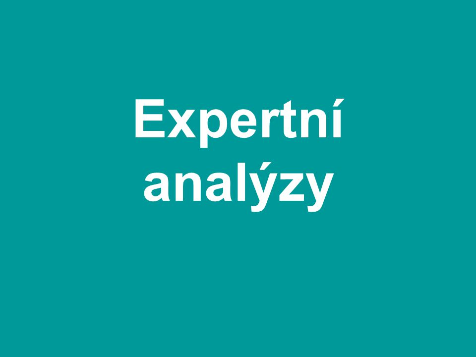 Expertní analýzy