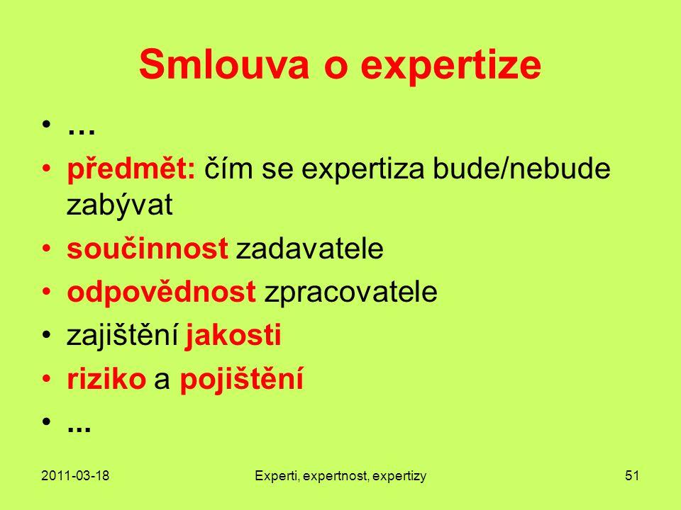 Experti, expertnost, expertizy