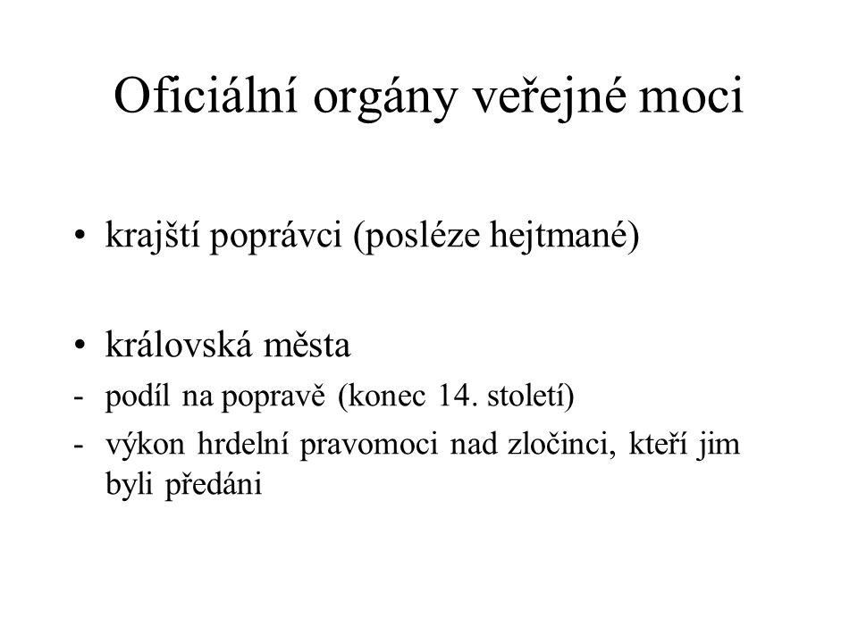 Oficiální orgány veřejné moci