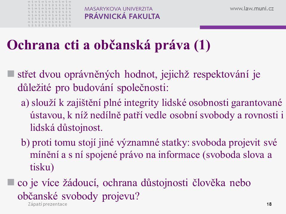 Ochrana cti a občanská práva (1)