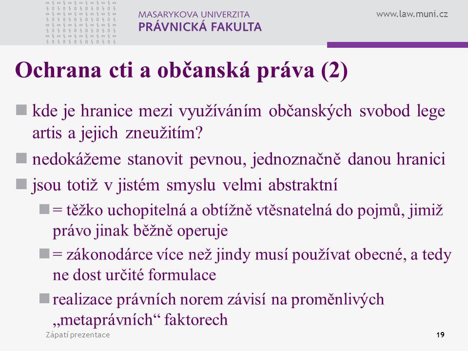 Ochrana cti a občanská práva (2)
