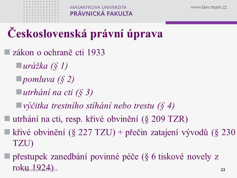 Československá právní úprava