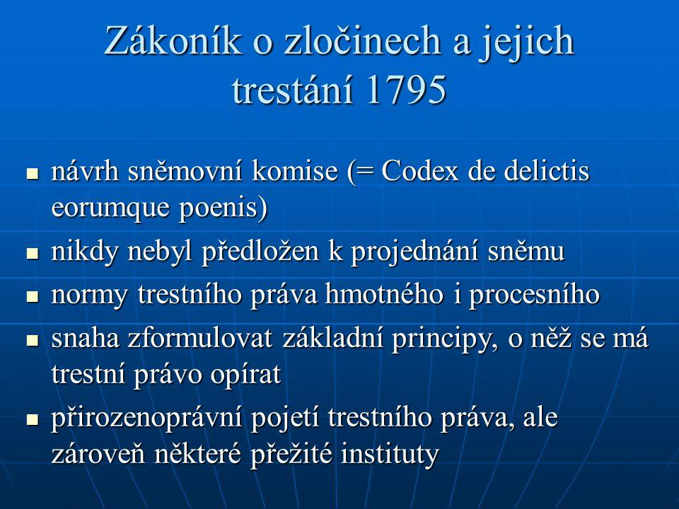 Zákoník o zločinech a jejich trestání 1795