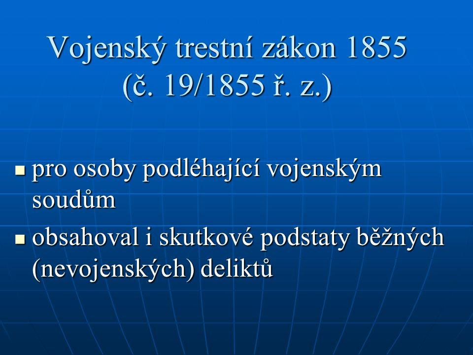 Vojenský trestní zákon 1855 (č. 19/1855 ř. z.)