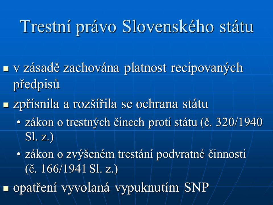 Trestní právo Slovenského státu