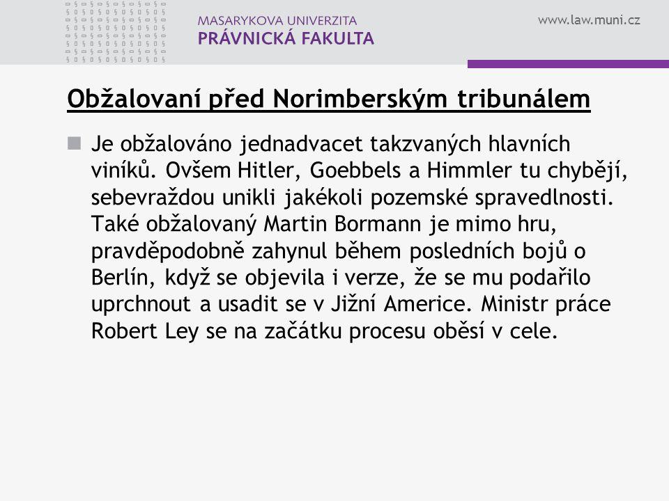 Obžalovaní před Norimberským tribunálem