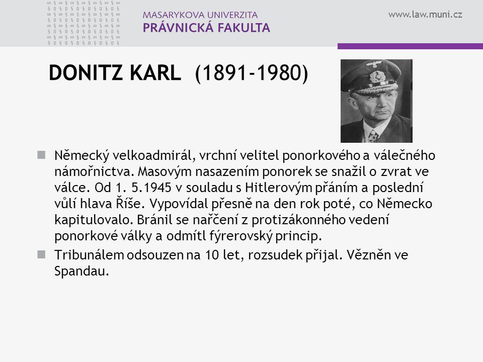 DONITZ KARL (1891-1980)